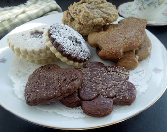 Classic Butter Sugar Cookie 2 DozAssortment-Jammies-Gingerbread-Cocoa Sugar-Oat Cranberry-Gift for students-family-sweetheart-special day!