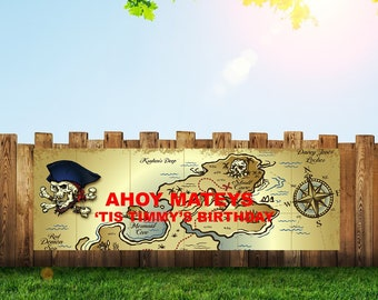 Pirate Banner,Pirate Party,Pirate Birthday,Birthday Banner,Pirate