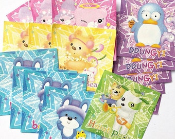 Cute Kawaii Square Character Origami Paper, 20 Piece Assorted Pack 5.1cm x 5.1 cm