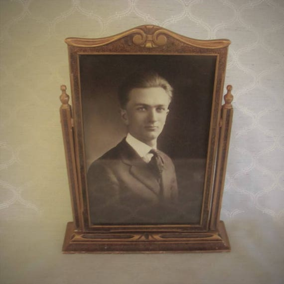 Antique Wooden Swivel Picture Frame, 9 x 13 3/4 in. Antique Wood ...