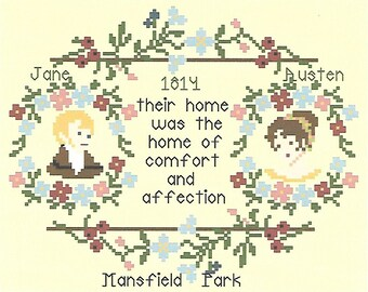 A Mansfield Park Miniature / Cross Stitch Chart / Jane Austen