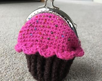 Cupcake Coin Purse Crochet Pattern