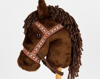 Bay Stick Horse -Stick Pony- Hobby Horse