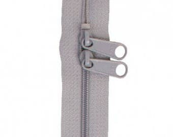 "40"" Double Slide Handbag Zipper by Annie - Color PEWTER"