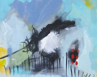 Original painting, abstract art, acrylic on canvas,