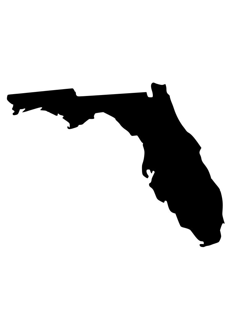 state of florida outline laptop cup decal svg digital download cuttable files cricut silhouette
