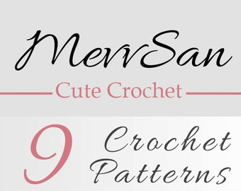 Any 9 Crochet Patterns