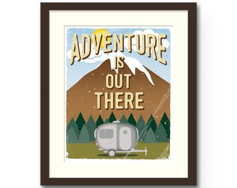 "Adventure Is Out There Print - 8x10"" or 11x14"" Disney / Pixar ""Up"" Inspired nature / camping Wall Art Print : Nursery Art / Decor"