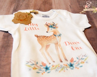 Baby Deer Onesie ®, Baby Shower Gift, Baby Onesie, Boho Onesie, Boho Baby Girl Clothes, Take Home Outfit, Girls Baby Clothes, Bee & Bubba