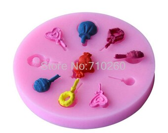 for polymer clay lollipop silicone mold