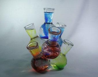 Clear Glass Cluster Vase