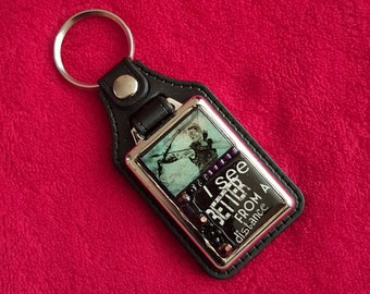 Hawkeye Key Fob. Mosaic, Metal and Faux Leather. Clint Barton. Jeremy Renner. Avengers. Hawk eye.