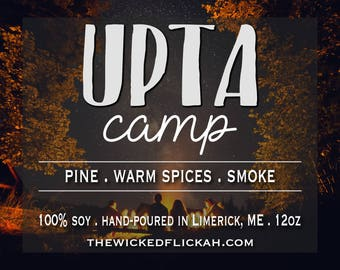 Upta Camp {12oz Wooden Wick Soy Candle}