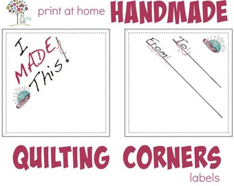 Quilt Corner and Sewing Labels