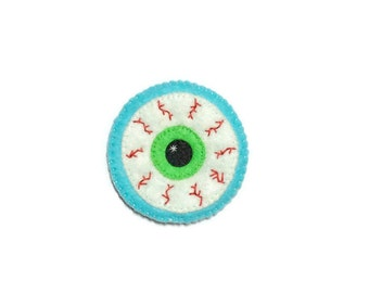 Halloween Patch - Embroidered Patch - Eyeball Patch - Sewn On Patch - Creepy Cute Patch - Cute Patch