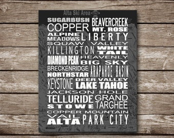 Colorado Ski Slopes Printable Poster - Made to Order