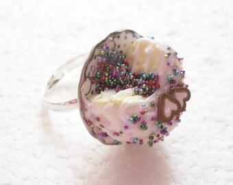 Pinata Cake Ring. Polymer Clay.