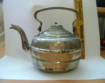 Vintage Metal Teapot for Child Size Stove