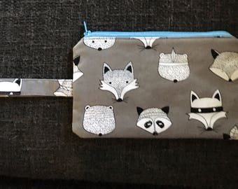 Ninja Woodland Creatures Forest Animal Pencil Case / Make Up Bag