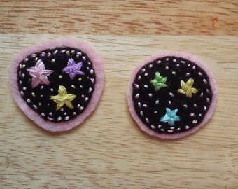Pastel Candy Stars (Patch, Pin, Brooch, or Magnet)