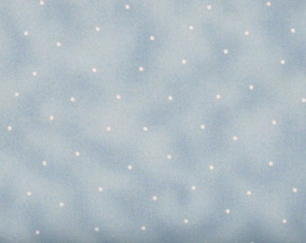 Light Blue Mottled Texture with Dots 100% Cotton Quilt Fabric Blender for Sale, Maywood Studios Simpatico MAS569-B4, Yardage, Fabric on Sale