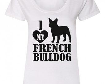 I Love My French Bulldog T-Shirt