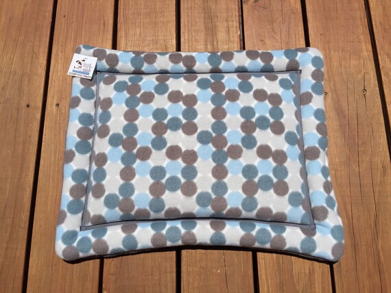 Polka Dot Dog Bed, Blue Cat Mat, Washable, XS