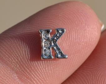 1 Memory Locket Letter K Charm FL343