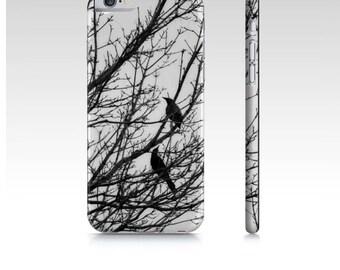 iPhone Cases Black Birds Photo iPhone Covers and Cases Black White Phone Case For Apple iPhone Devices