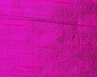 100% Silk Dupioni Magenta