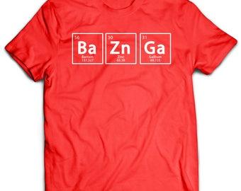 Sheldon Big Bang Theory - Bazinga Chemical Element T-Shirt