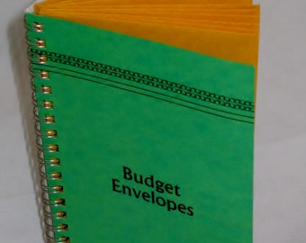 Cash Budget Envelopes Green Cover Vintage Style