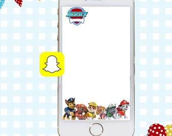 Snapchat GeoFilters, Birthday Snapchat Filters, Party Snapchat, Paw Patrol Snapchat GeoFilter, Paw Patrol Birthday Party, Paw Patrol Filter