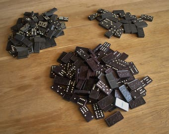 Large Lot of Vintage Wooden Dominoes – 208 count
