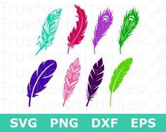 Feather SVG / Feather Silhouette / Feather Vector / Feather Clipart / SVG Feather / Feather Cut File / svg Files for Cricut / Silhouette