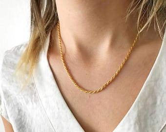 Vintage Chain Necklace / Layering Necklace / Old Fashioned / Minimal Jewelry / NL0087