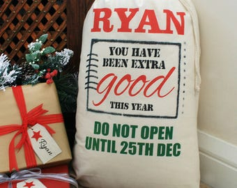 Personalised 'Extra Good' Christmas Sack