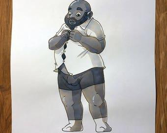Inktober Dudes 2017 - 16. Fat