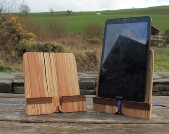 Spalted Beech Docking Station, Tablet Stand, iPad Stand, Tablet Display Stand, Charging Station, Birthday Gift, Gift, Gift Ideas
