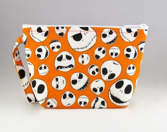Jack Skellington Makeup Bag - Nightmare Before Christmas - Accessory - Cosmetic Bag - Pouch - Toiletry Bag - Gift