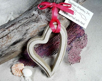 OPEN HEART Made with Sand Ornament