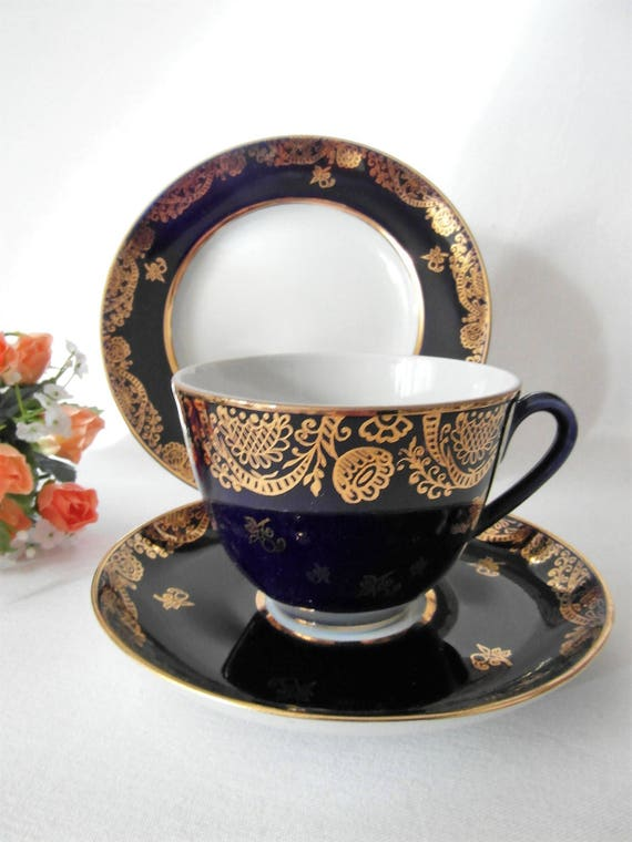 LOMONOSOV Russisch Teetasse Trio traditionell Kaffeetasse
