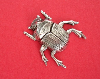 2- Bug Insect Ox Silver over Brass Stamping Ornament Pendant Jewelry Findings.