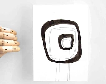 Abstract art, original abstract art painting, modern art, ink art, minimal abstract, abstract, original abstract painting, ink painting, ink
