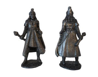 Vlad the Impaler, Vlad Tepes lead figure, bust, statue, Count Dracula from Transylvania, Vampire Gothic horror portrait, Prince of Wallachia