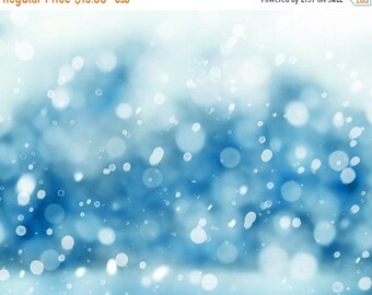 ON SALE snow photography abstract winter photography bokeh 8x10 30x45 fine art photography snow falling blue pastel nature photography bedro