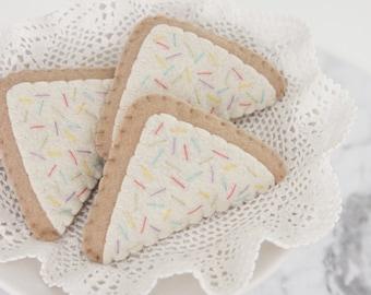 Pretend Food Tea Party Felt Pretend Play, Fairy Bread, Picnic Sandwiches, Play Kitchen, Play Shop, Sprinkles, Quarter Sandwiches