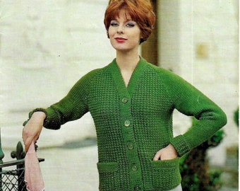 SIRDAR 2001 Lady's Jacket Original 1960's Vintage Knitting Pattern