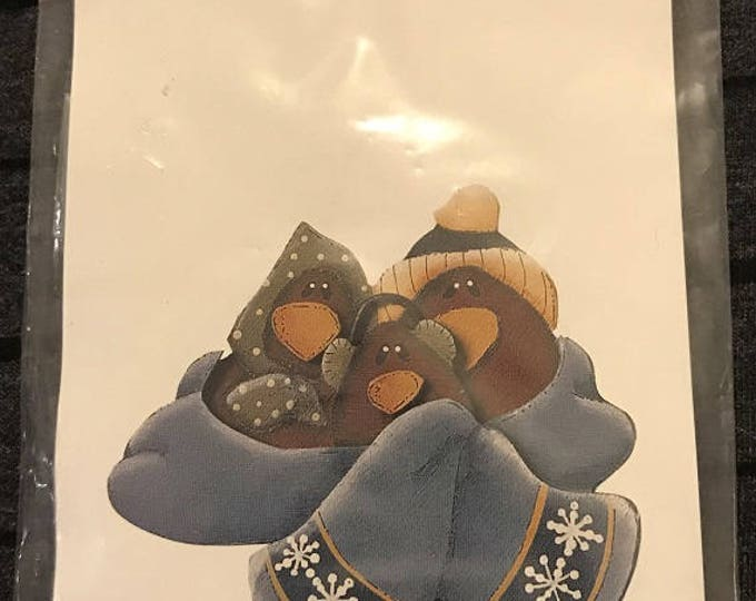 Just Be Cuz' Folk Art Designs – Wood Crafts Pin Kit – #10162 Redbirds - Wood Pin Kit