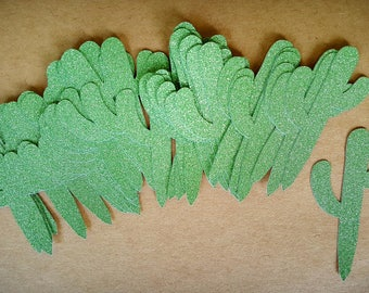 Cactus Decorations / 100 Count / Cactus Confetti / Fiesta Party / Cinco De Mayo Decorations / Fiesta Decorations / Fiesta Baby Shower